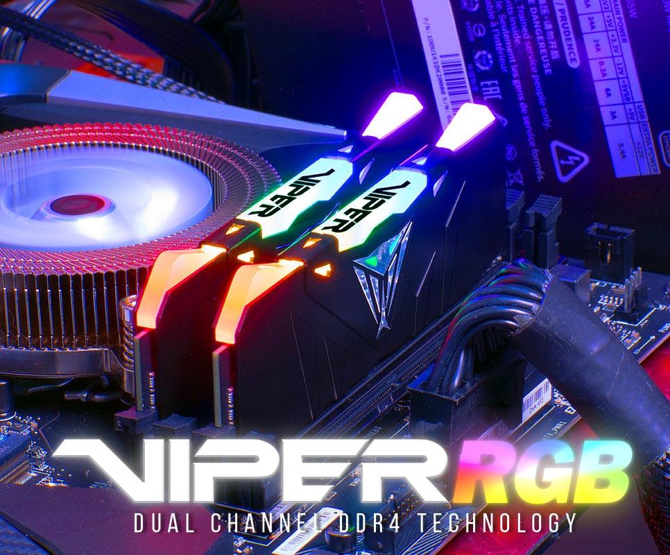 patriot presents viper rgb ddr4 series