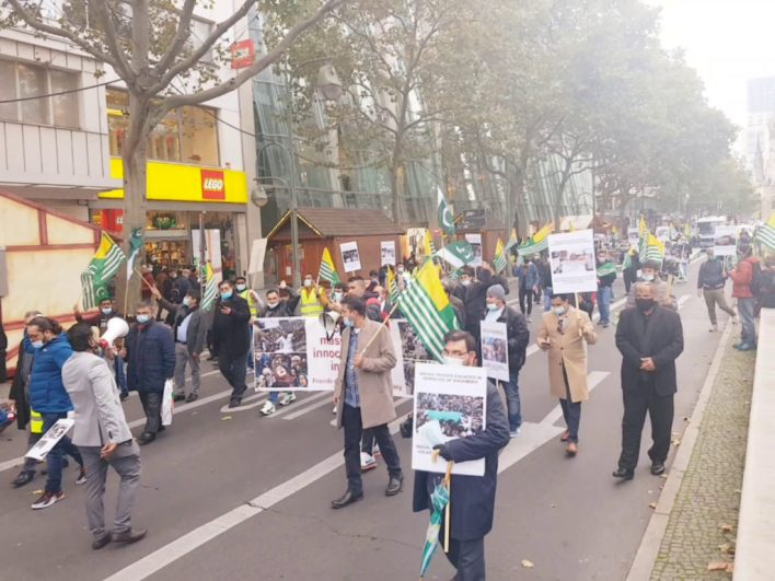 Kashmir Solidarity rally in Berlin against Indian occupation and atrocities.