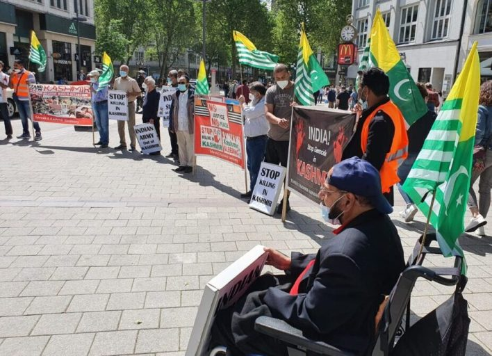 Tehreek-e-Kashmir staged protest across Germany on G7 summit.