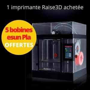 5 bobines offertes pour toute imprimante raise3D achetée