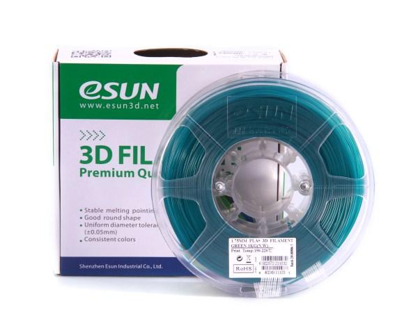 Filaments esun 3D PLA+ de qualité et résistant bleu vert