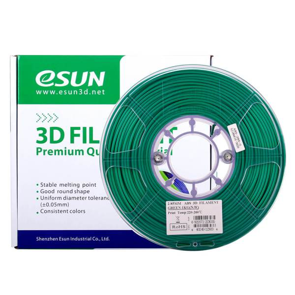 Filaments 3D ABS ESUN vert