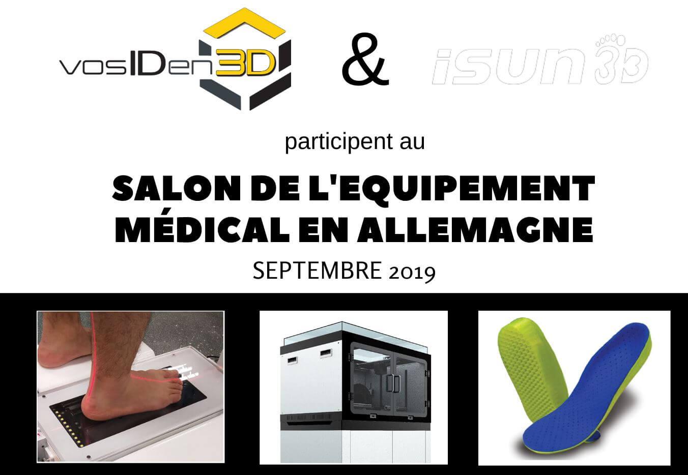 Semelles orthopédiques en impression 3D au Salon de l'Equipement médical en Allemagne