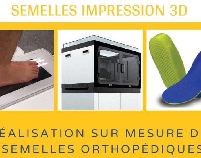 semelles impression 3D avec des technologies de haute qualité