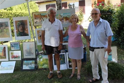 L'organisatrice Françoise Asselin, entourée de Christian Vergalli et de Marc Mérandon.