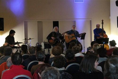 Jocelyn, Francis et les deux Gilles à Larchant