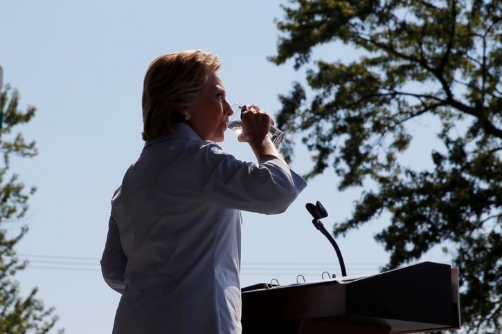Image result for Hillary Clinton drinking special water
