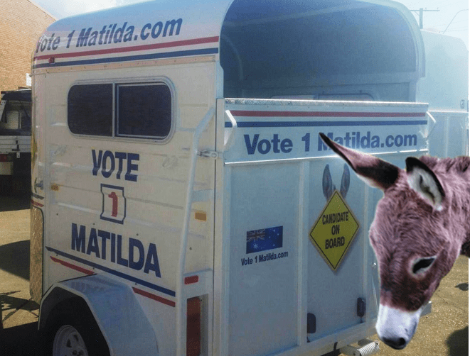 Matilda's Campaign Float