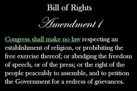 No law respecting an establishment of religion