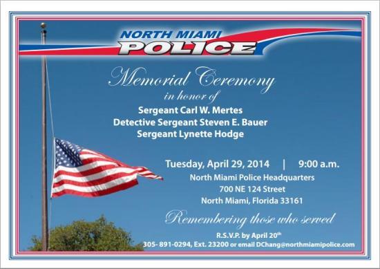 Memoral Ceremony 04-29-14