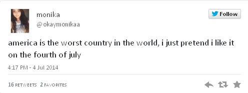 Hate America Tweet 1