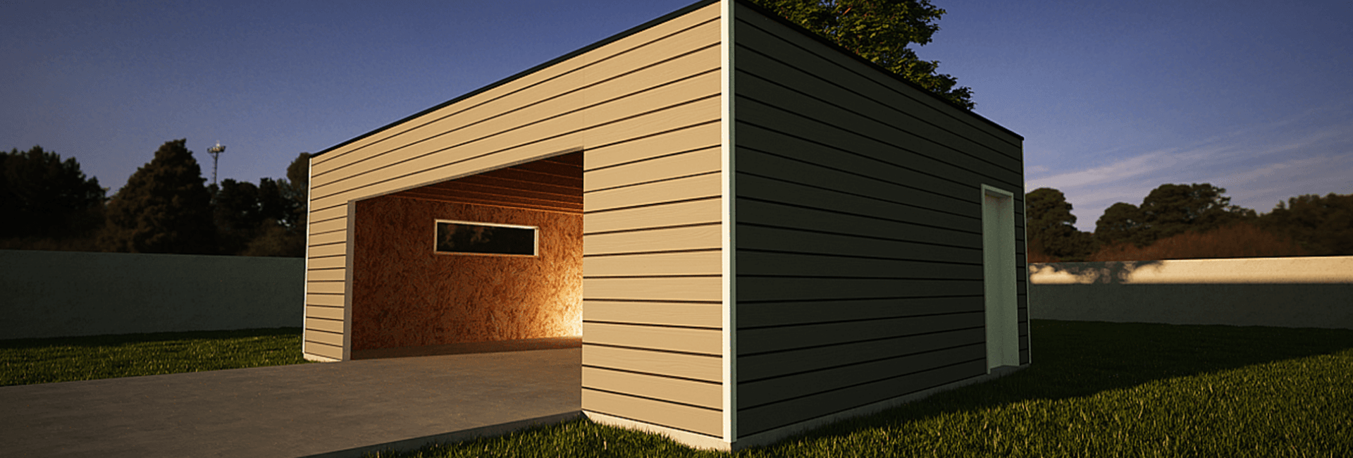 Garage Ossature Bois Sur Mesure De Qualite Garage Bois Double En Kit