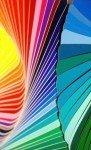 macro d'un nuancier de couleurs