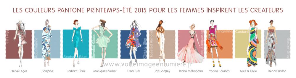 Les 10 couleurs Pantone printemps-été 2015 pour femmes illustrées par les créateurs