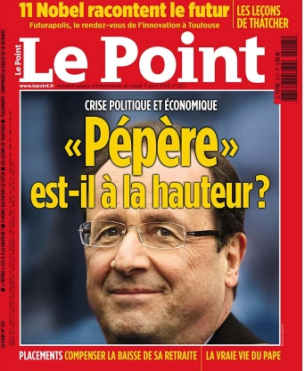 Le Point Pepere François Hollande