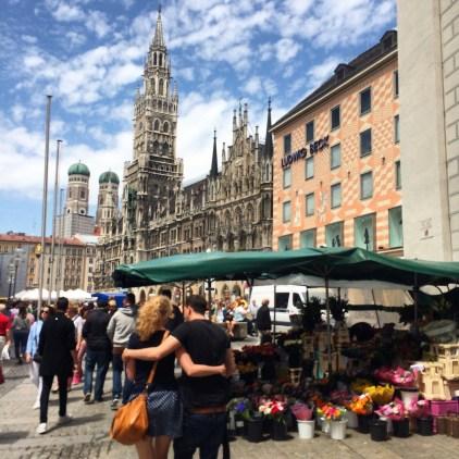 Marienplatz, a praça mais famosa de Munique