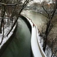 A neve em Janeiro em Munique
