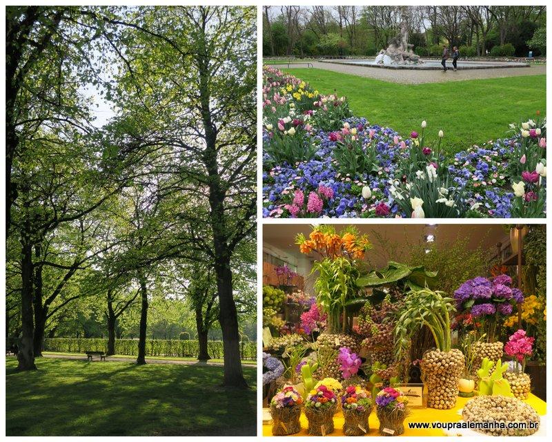 Flores e mais flores na primavera em Munique
