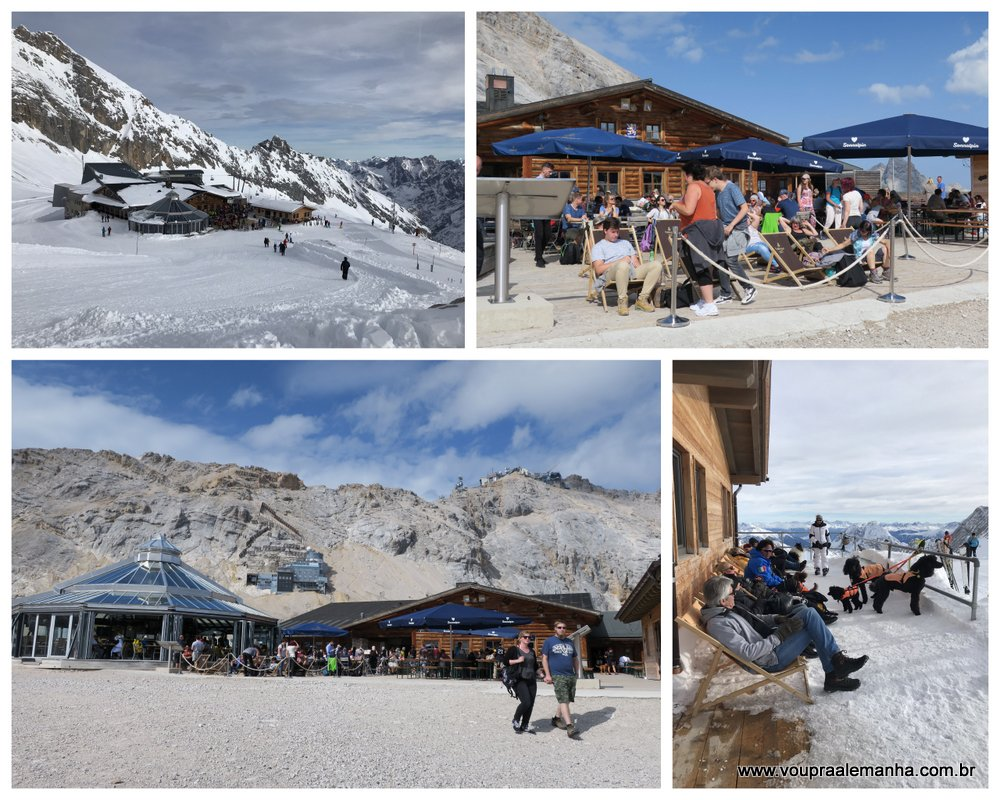 Zugspitze no verão e inverno