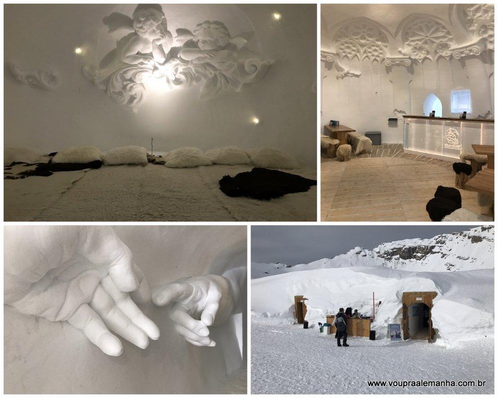 Hotel de gelo no Zugspitze