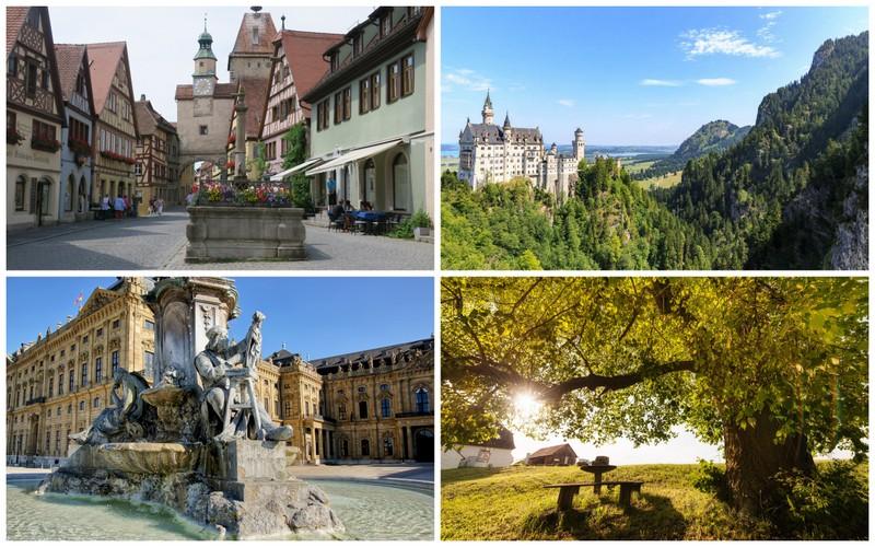 Algumas das principais cidades da Rota Romântica na Alemanha
