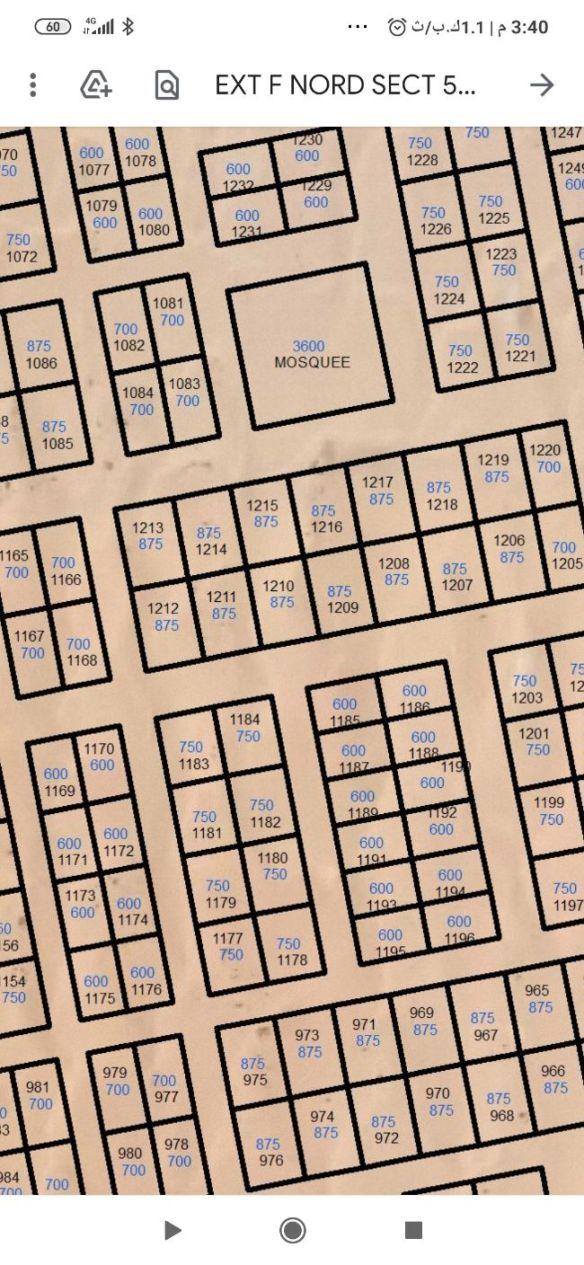 فرصة: نيمرو اف سكتير 5 اتراب 875م² اڤريب من البنيان