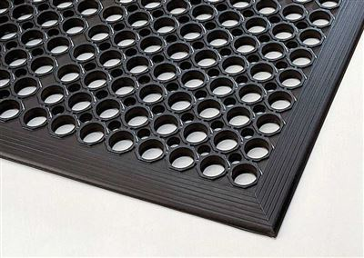 tapis caillebotis caoutchouc 91 x 152 cm 14 mm