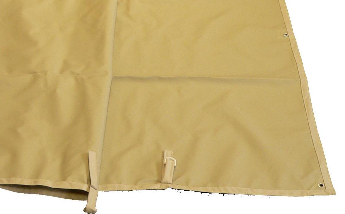 toile impermeable tonnelle de jardin azur capri adossee 400 gr pet pvc
