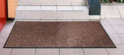 tapis entree interieur polypropylene 80x120 cm brun