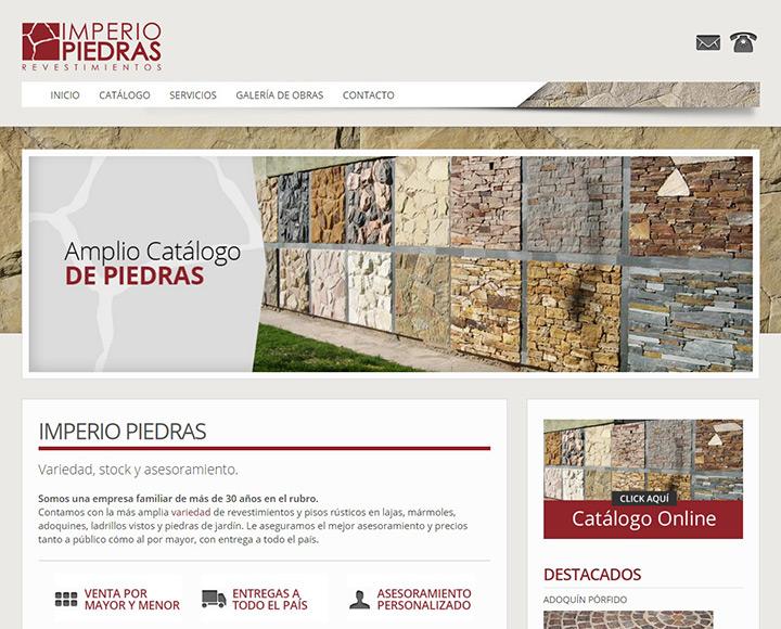 diseño web para Imperio Piedras