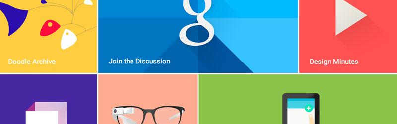 diseño web material de google