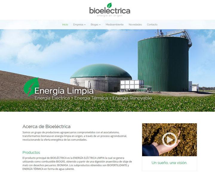 diseño web para bioelectrica energia en origen