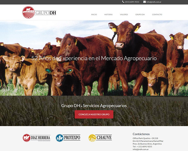 trabajo de diseño web para GDH