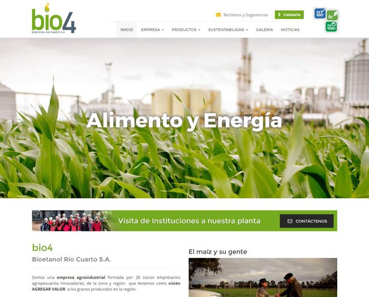 diseño web para bio4