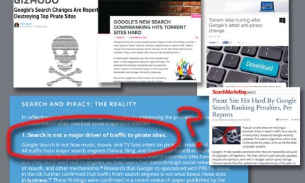 Will Google finally admit search a factor in online piracy?