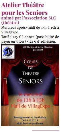 Cours de théâtre Seniors
