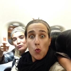 Clem et Mumu admises dans l'avion. C'est presque gagné !