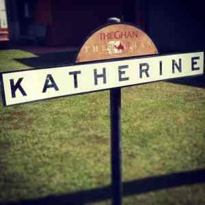 gare de Katherine - sign - The Ghan - Australie