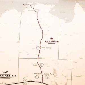 Itinéraire du Ghan_Carte - Australie