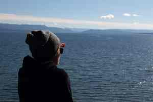 Une baroudeuse à Yellowstone Lake