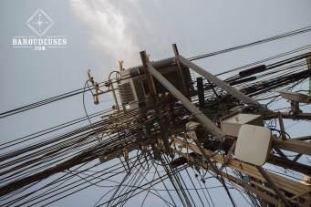 Fils électriques - Laos