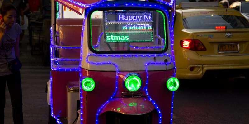 Tuk-tuk néons - Bangkok