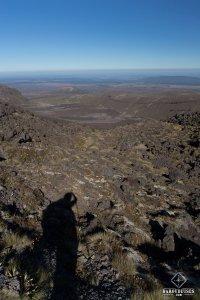 Silhouette et Paysage sur le Tongariro Alpine Crossing