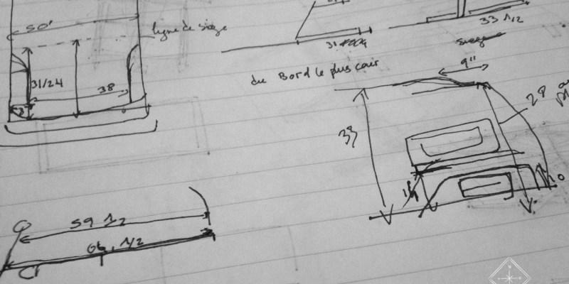 Plans - Aménagement de la Jeep - Croquis