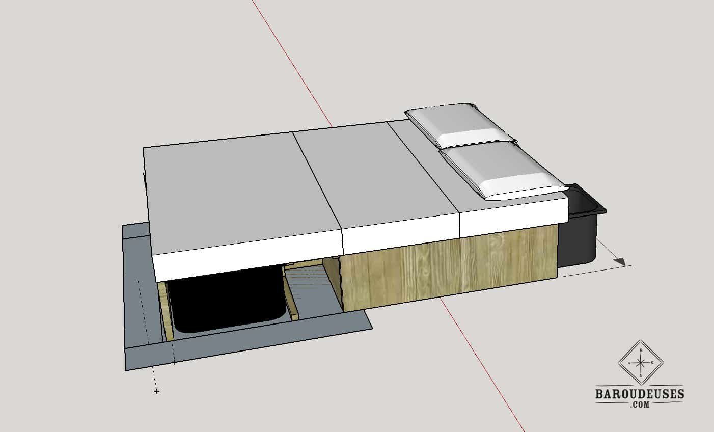 sketchup-amenagement-van-4x4---lit