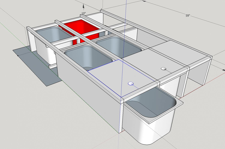 sketchup amenagement van 4x4 - structure
