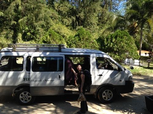 Minibus birman - Ngapali à Pyay