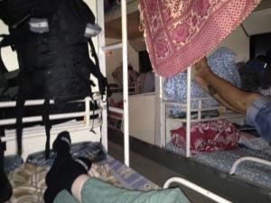 Bus couchette Laos - Décembre 2014