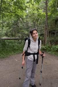 Clem en randonnée - Kamikochi
