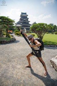 Une baroudeuse - château de Matsumoto